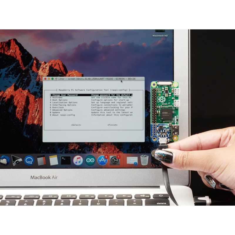 Adafruit PiUART - Add-on USB Console et Alimentation pour Raspberry Pi