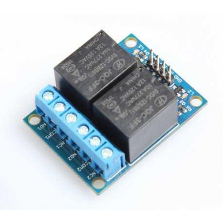 Module dual relay 5V - 250V 7A