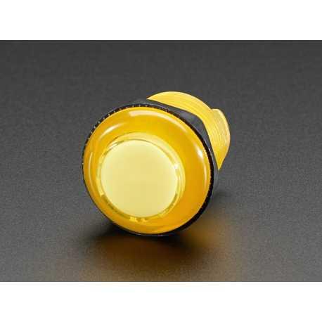Bouton arcade LED - 30mm Jaune Transparent