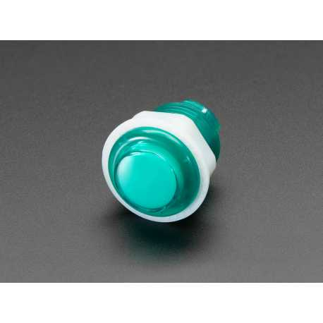 Mini button arcade LED - 24mm Transparent Green