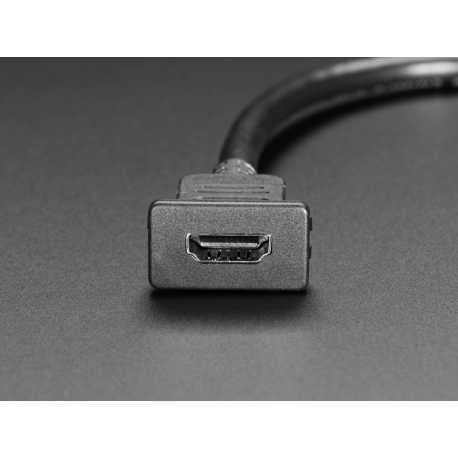 Cable HDMI encliquetable pour montage sur panneau - 30cm