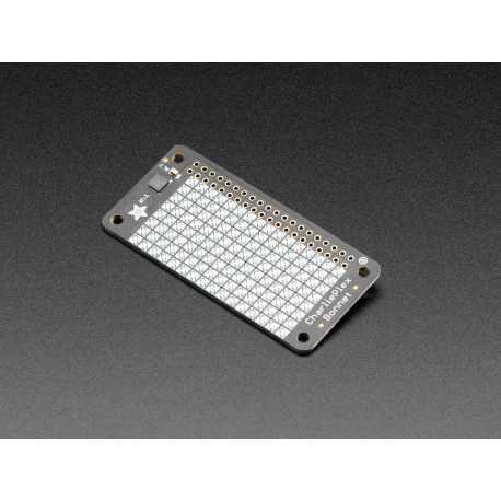 Bonnet CharliePlex Matrice de LED - 8x16 LEDs jaunes