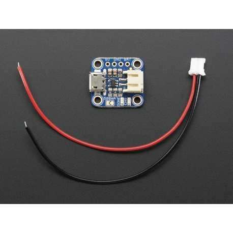 Chargeur Adafruit Micro-Lipo pour LiPo/LiIon Batt avec prise microUSB - v1