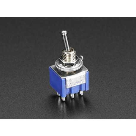 Interrupteur double a bascule miniature DPDT pour montage sur panneau