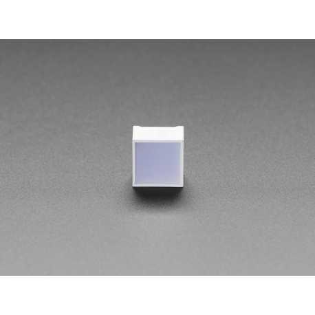 LED carre 15mm - Bleu Diffusant