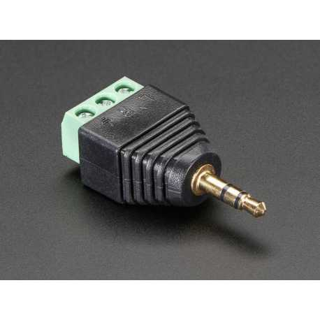 Adaptateur Jack Stereo audio 3 contacts 3.5mm male vers bornier