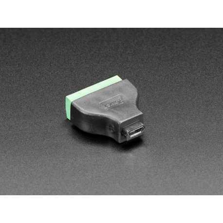 USB Micro B Female Plug to 5-pin Terminal Block