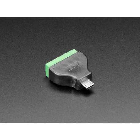 Adaptateur USB Micro B Male vers bornier