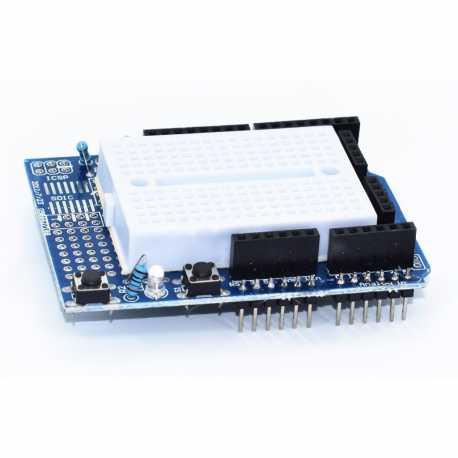 Shield de prototypage avec breadboard pour Arduino