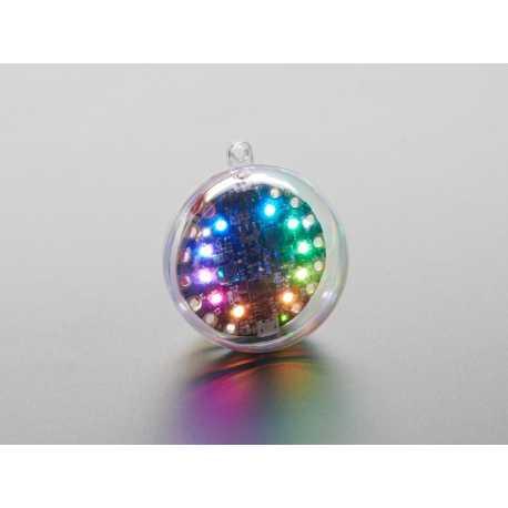 Sphere transparente d'ornement DIY - 6cm de diametre - ideal Circuit Playground