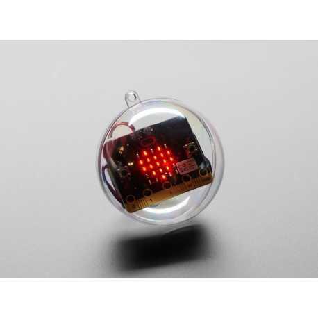 Sphere transparente d'ornement DIY - 7cm de diametre