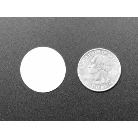 Pastille blanche RFID/NFC 13.56MHz - puce NTAG203