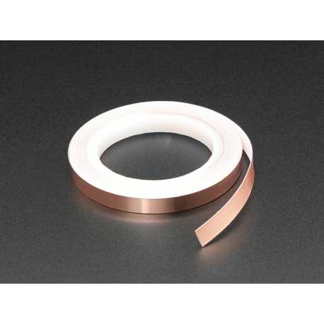 Ruban de cuivre avec adhesif conducteur - 6mm x 5 metres de long