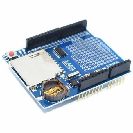 Shield de stockage SD avec horloge RTC pour Arduino