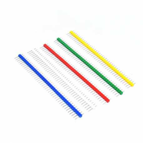 "Colored Break-away 0.1"" 40-pin strip male header (10 pieces)"