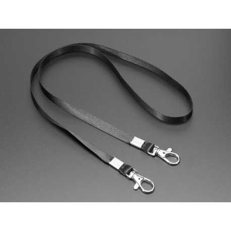 Double-Hook Lanyard Black