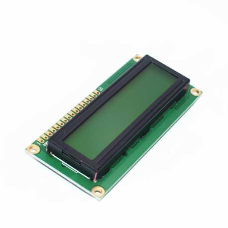 Afficheur alphanumerique LCD 16X2 Retro-eclaire Jaune-Vert HD44780