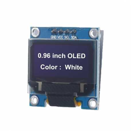 "Ecran OLED Blanc 0,96"" 128x64 Graphique I2C SSD1306"