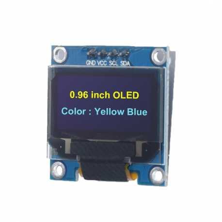 "OLED Display Yellow Blue 0.96"" 128x64 Graphic"