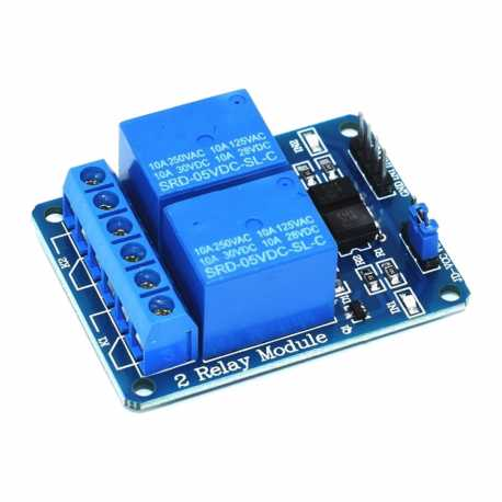 5V opto-isolated relay module 2 channel 10A
