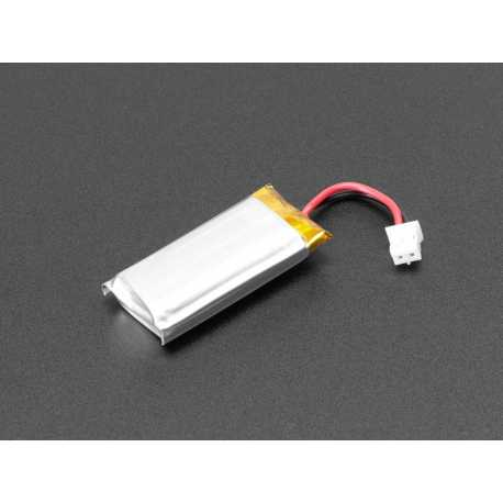 Lithium Ion polymer - 3.7V 400mAh battery Ideal pour Feather