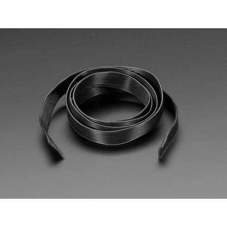 Cable plat avec gaine en silicone - 10 fils de 1m - 28AWG Noir