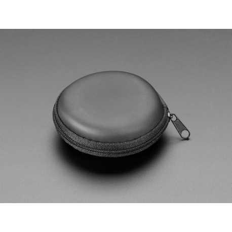 Round Black Zipper Case