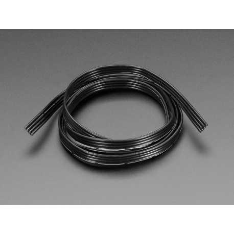 Cable plat avec gaine en silicone - 4 fils de 1m - 26AWG Noir