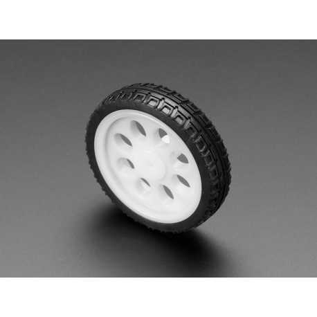 Roue fine blanche pour moteurs TT - Diametre 65mm