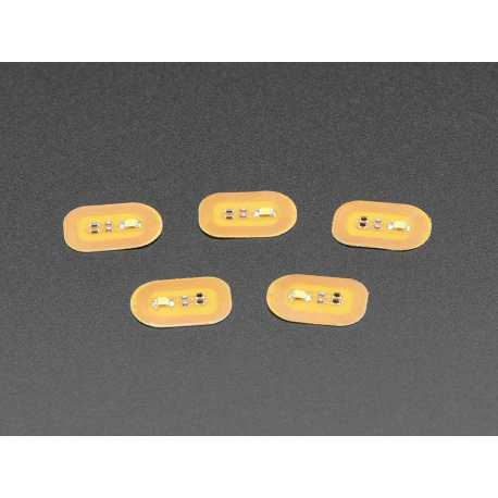 Autocollants a ongles RFID NFC - Pack de 5 avec LEDs blanches