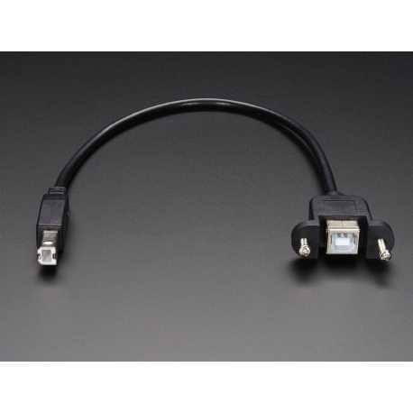 Cable USB BFemelle - B Male pour montage panneau