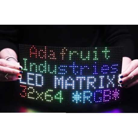 64x32 Flexible RGB LED Matrix - 5mm Pitch