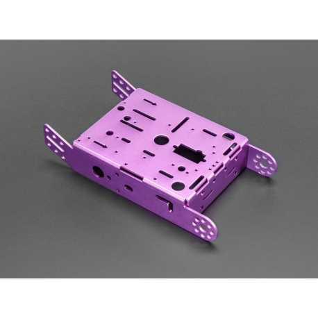Chassis en aluminium violet pour moteurs TT - 2WD