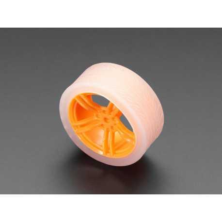 Roue orange et transparente pour moteur TT