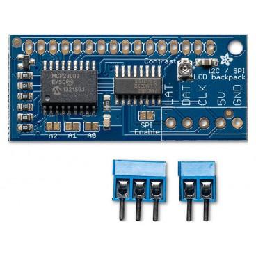 Adaptateur I2C ou SPI pour afficheur LCD