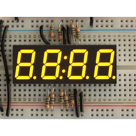 Display Clock 7 segments yelow 4 digits - 0,56""