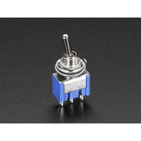 Interrupteur a bascule miniature SPDT pour montage sur panneau