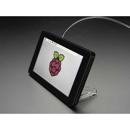 "Raspberry Pi 7"" Touch Screen Support - Black"