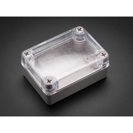Petit boitier en plastique - Resistant aux intemperies avec couvercle transparent.