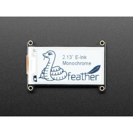 """Ecran 2.13"""" Monochrome eInk / ePaper FeatherWing - 250x122"""