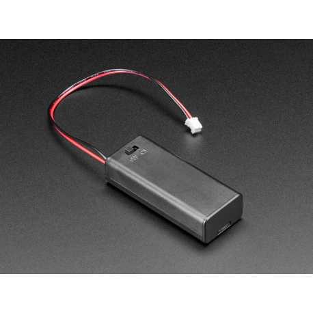 support de piles 2 xAAA avec interrupteur marche/arret et connecteur JST PH
