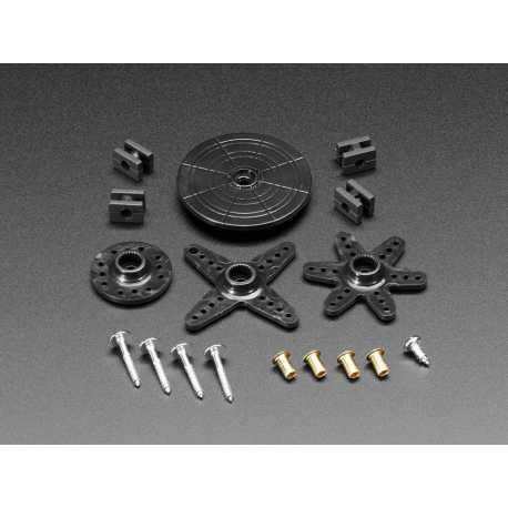 Ensemble standard de cornes pour servomoteur - 25 dents