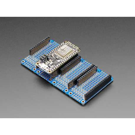 Quad Side-By-Side FeatherWing Kit avec connecteurs