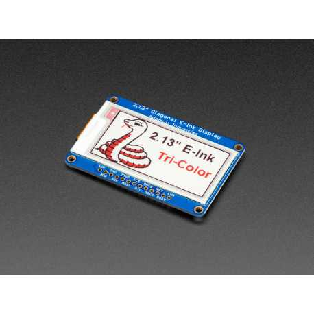 "2.13"" Tri-Color eInk / ePaper Display with SRAM - Red Black White"