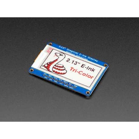 """Ecran 2.13"""" Tri-Color eInk / ePaper avec SRAM - Rouge Noir Blanc"""