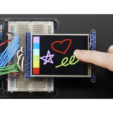 """Touch screen resistive TFT 2.8 """"320 x 240 8bits or SPI"""