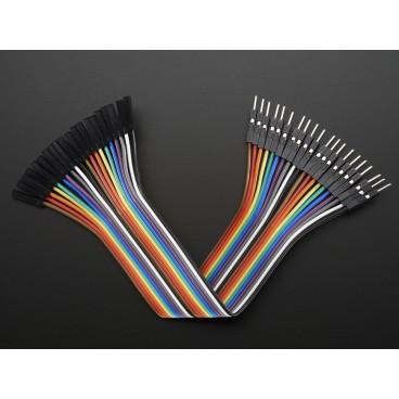 Kit de 20 wires Male-Femelle 150mm Premium dupont