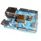 Example le montage du Module PoE sur Arduino Ethernet (non compris)