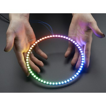 NeoPixel Ring 1/4 60 LED RGB LED et driver integre